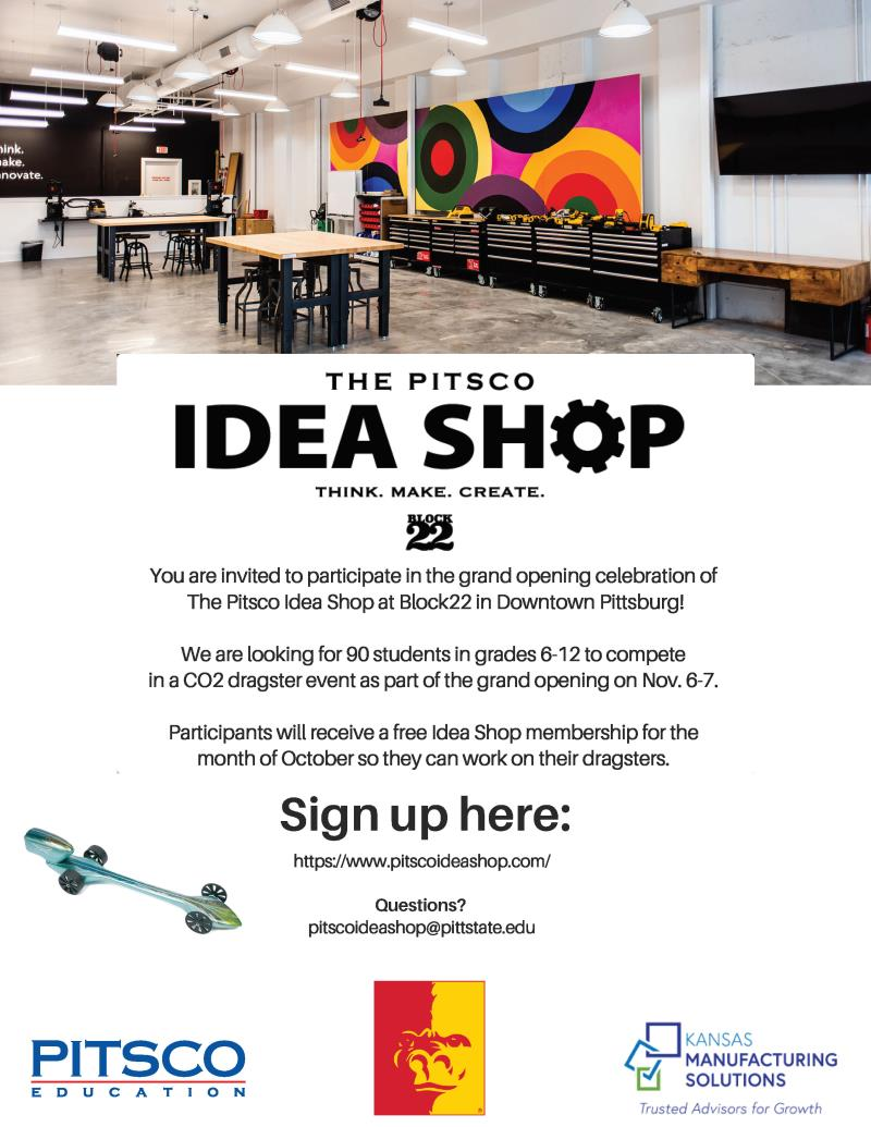 The Pitsco Idea Shop Grand Opening