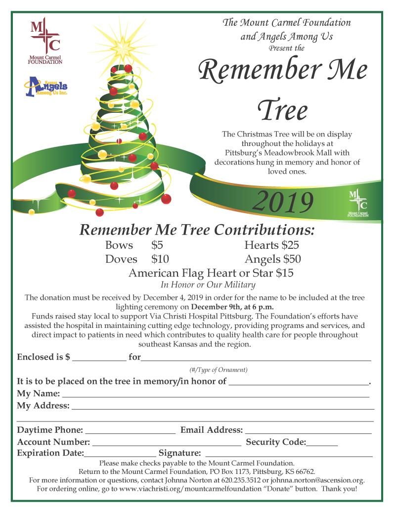 Mount Carmel Foundation Remember Me Tree Ceremony