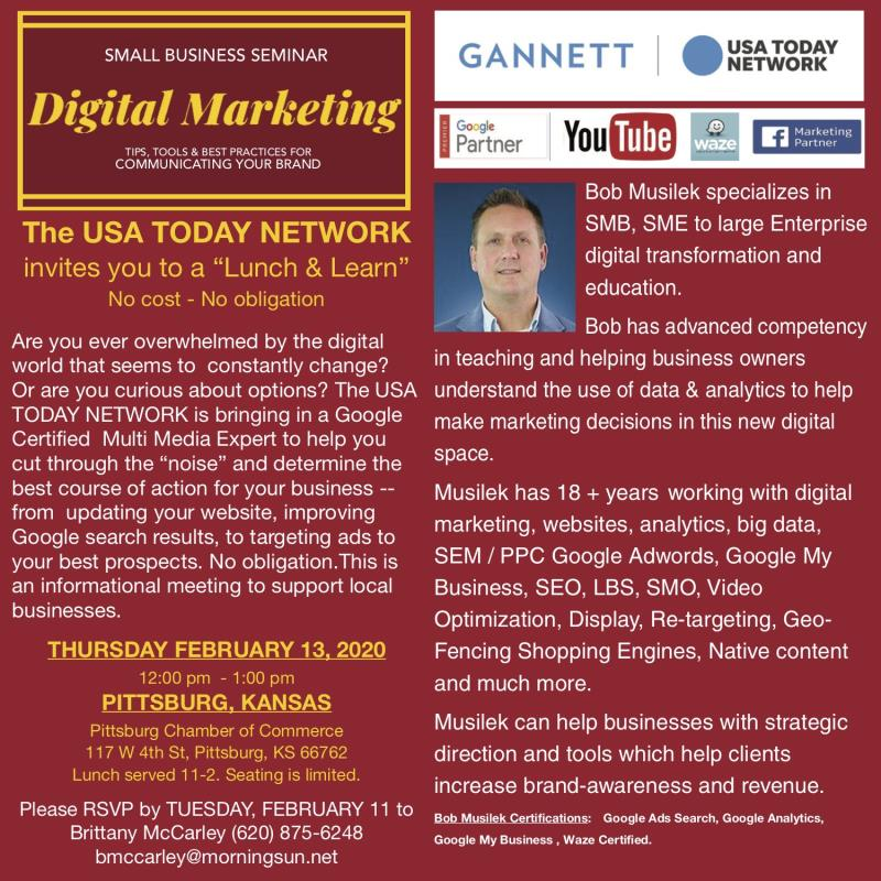 Small Business Seminar- Digital Marketing Lunch and Learn