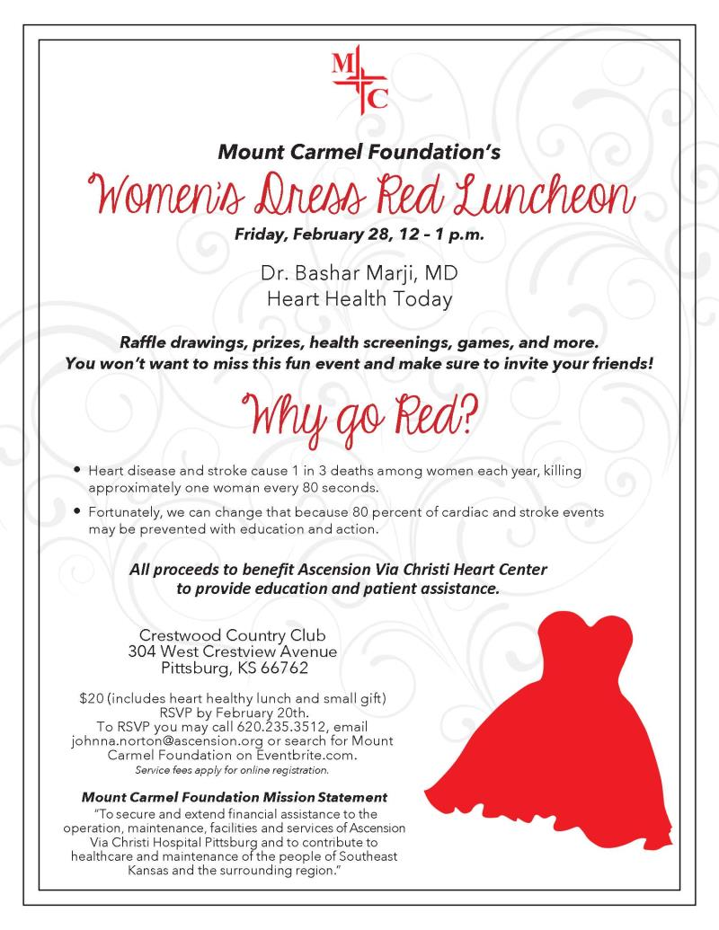 Women's Dress Red Luncheon