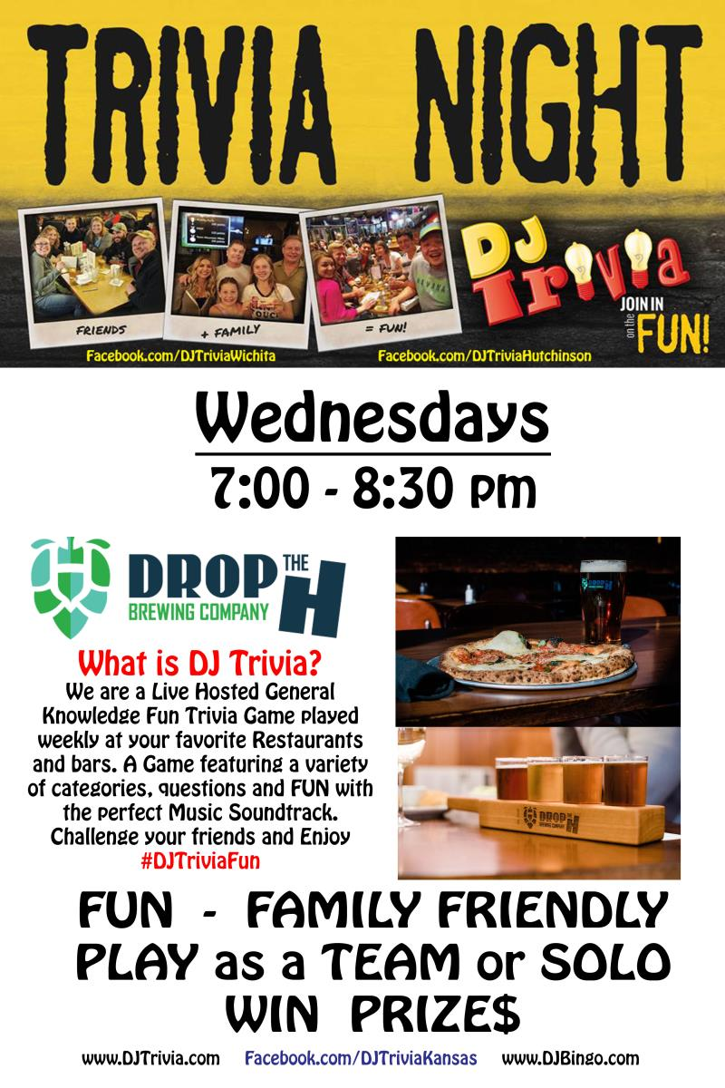Trivia Night at Drop the H Brewing Company!